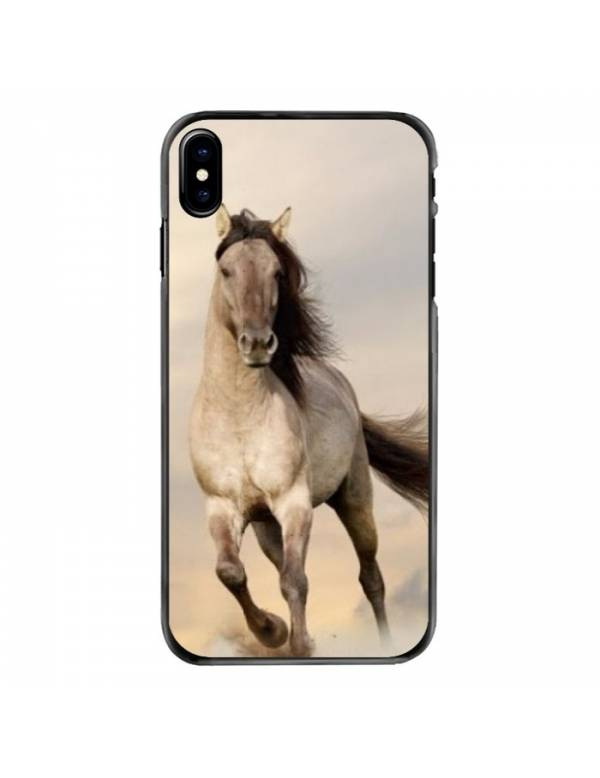 Coque iPhone X/XS - Motif cheval blanc