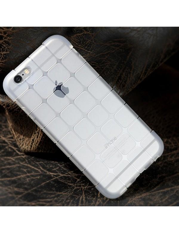 Coque iPhone 7/8 en silicone translucide petits carrés