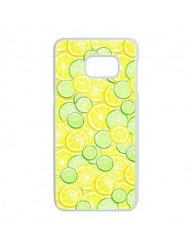 coque-Samsung-Galaxy-S7-edge-citrons-verts-jaunes-contours-blancs