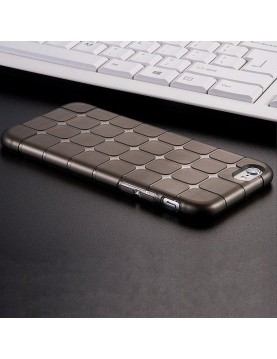 Coque iPhone 7/8 en silicone noir translucide petits carrés