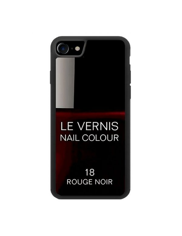 Coque rigide iPhone 7/8 - Le Vernis-18-Rouge Noir
