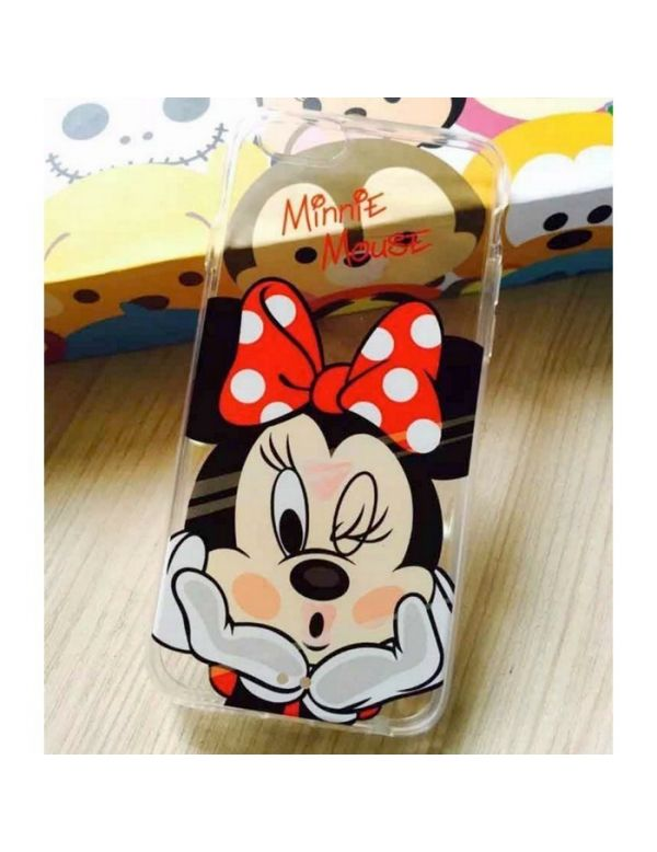 Coque silicone transparente Minnie mousse pour iPhone 7/8