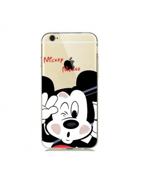 Coque silicone transparente Mickey mousse pour iPhone 7/8