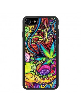 Coque zen pour iPhone 7/8 - look baba-cool multi-couleurs