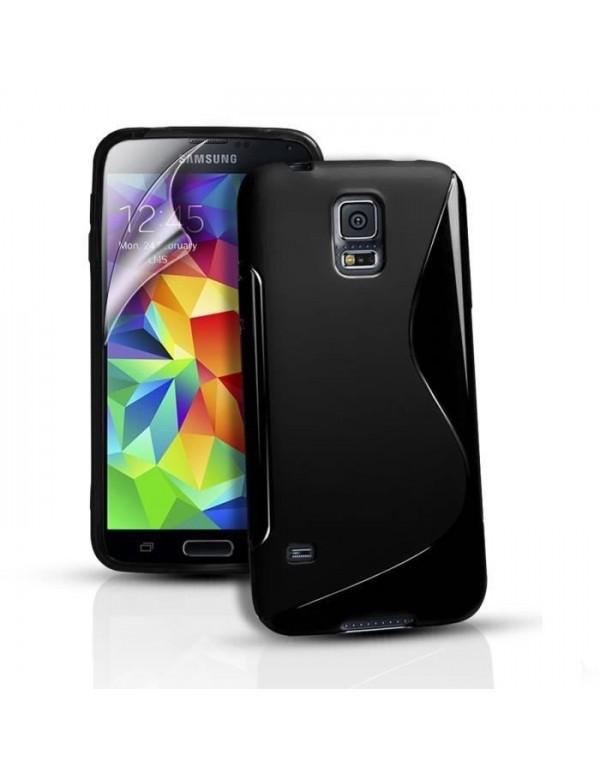 Coque Samsung Galaxy S5 Mini Grip Flex Noir