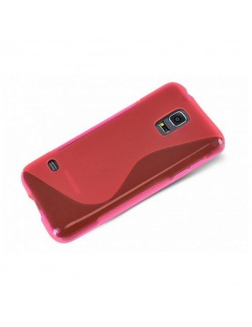 Coque-silicone-Samsung-Galaxy-S5-Mini-Grip-Flex-rose