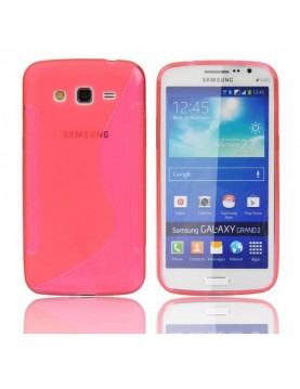 Coque silicone rose Samsung Galaxy Grand 2