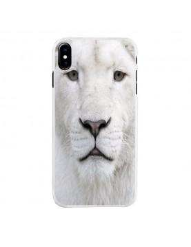 Coque iPhone X Lion blanc