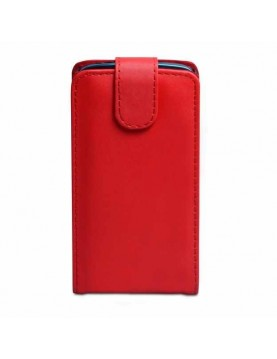 Etui-clapet-simili-cuir-rouge-coque-intégrée-Samsung-Galaxy-S4
