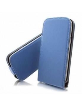Etui-clapet-simili-cuir-bleu-ciel-coque-intégrée-Samsung-Galaxy-S4
