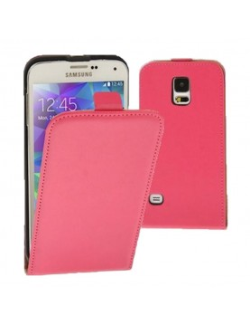 Etui-clapet-Samsung-Galaxy-S5-mini-rose
