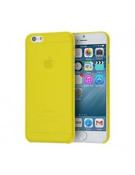 iPhone 7/8 coque silicone jaune translucide