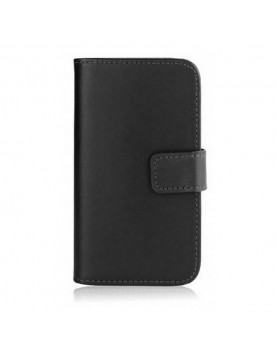 Etui portefeuille iPhone 5/5S, SE - Simili cuir noir