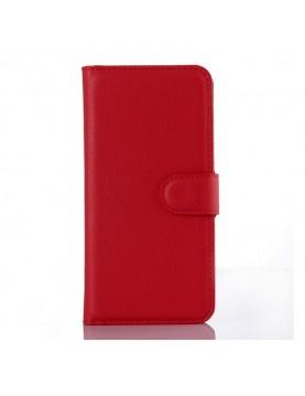 Étui portefeuille Samsung Galaxy Grand Prime/VE - Simili-cuir rouge