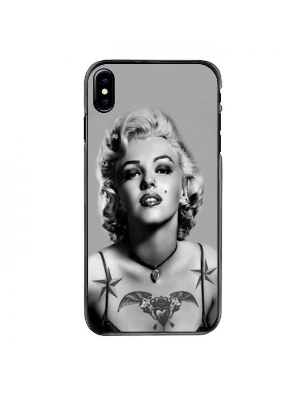 Coque iPhone X/XS Marilyn Monroe Noir et blanc