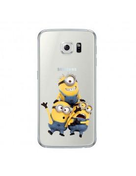 Coque Samsung Galaxy S7 en silicone transparente les trois minions
