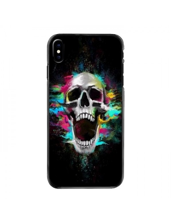 Coque rigide iPhone X/XS multi color Skull