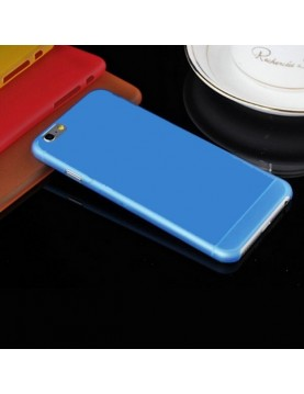 Coque iPhone 6 plus/6S Plus - Silicone Bleu translucide.