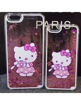iPhone 6 Plus/6S Plus coque rigide Hello kitty sable mouvant