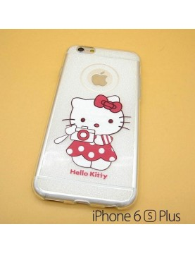 iPhone 6 plus/6S plus - Coque silicone Hello Kitty photographe