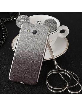Coque- silicone- Samsung- Galaxy -Grand- Prime/VE - Oreilles- de- Mickey- pailletée-noir