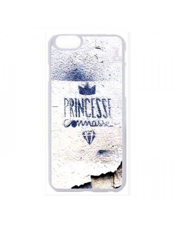 Coque 2D blanche iPhone 6 plus 6S Plus princesse connasse bleu