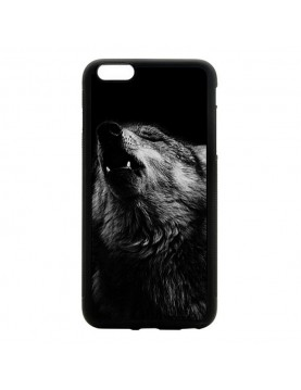 """Coque iPhone 6 Plus 6S Plus 5.5"""" magnifique loup noir et blanc"""