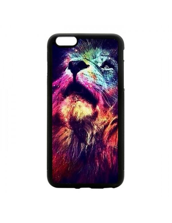 """Coque 2D iPhone 6 Plus 6S Plus 5.5"""" tête de lion"""