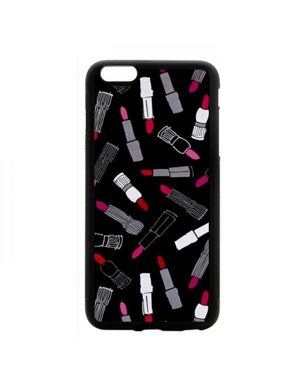 Coque iPhone 6 Plus /6S Plus - Rouge à lèvres sur fond noir