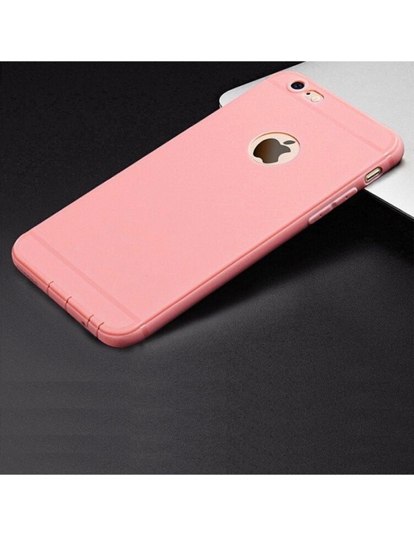 Coque silicone iPhone 6 plus/6S Plus - Rose pâle
