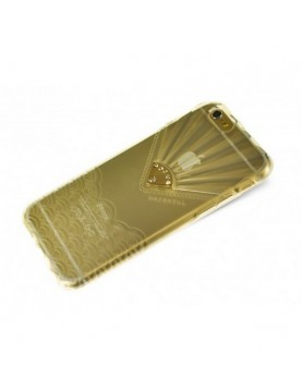Coque souple  iPhone 6/6S transparente ornée d un bijou
