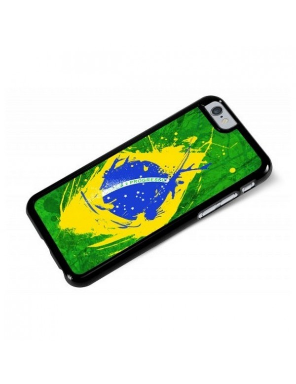 Coque iPhone 6/6S - Drapeau Bresil Grunge