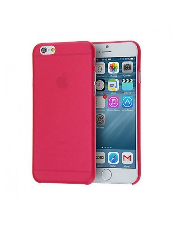 Coque iPhone 6/6S souple Rouge translucide.