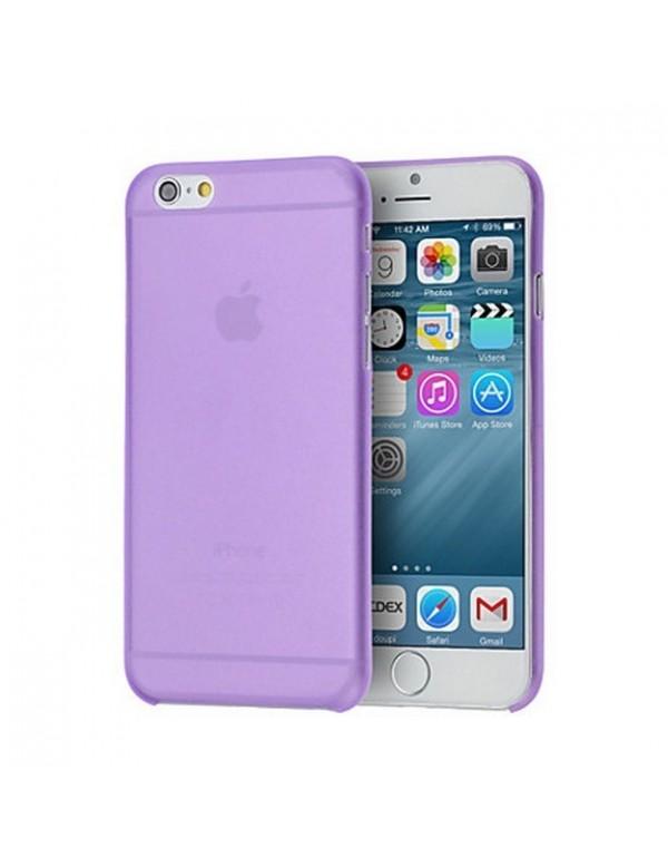 Coque iPhone 6/6S souple translucide violet.