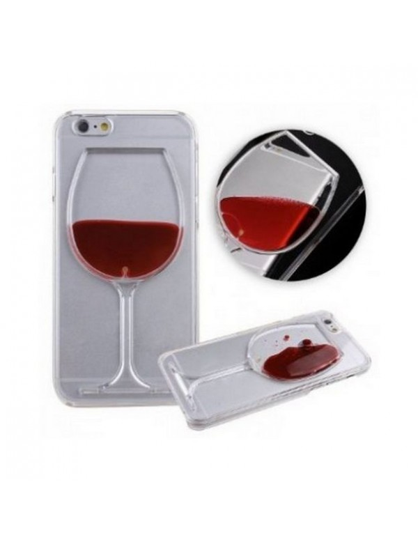 Coque rigide iPhone 6/6S -Verre de vin