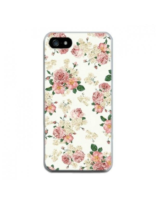 Coque rigide iPhone 6/6S Motif: Fleurs rose