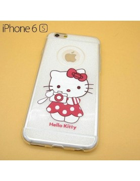 coque silicone iPhone 6/6S - Hello Kitty photographe
