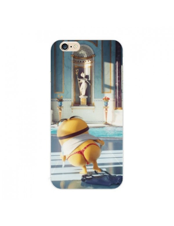 Coque- silicone- iPhone- 6/6S - Minion- en -string