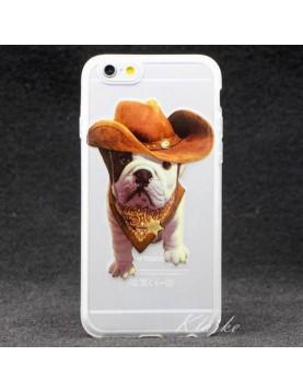 Coque souple iPhone 6/6S - Chien sherif cow-boy