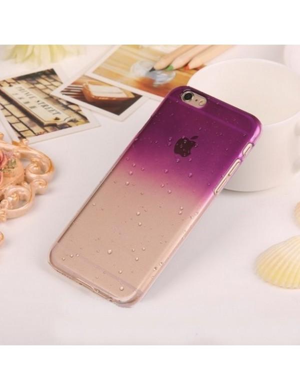 Coque rigide  iphone 6/6S  - Violet translucide effet 3d goutte de pluie