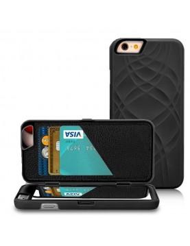 Coque iPhone 6/6S - Miroir intégré - Noir
