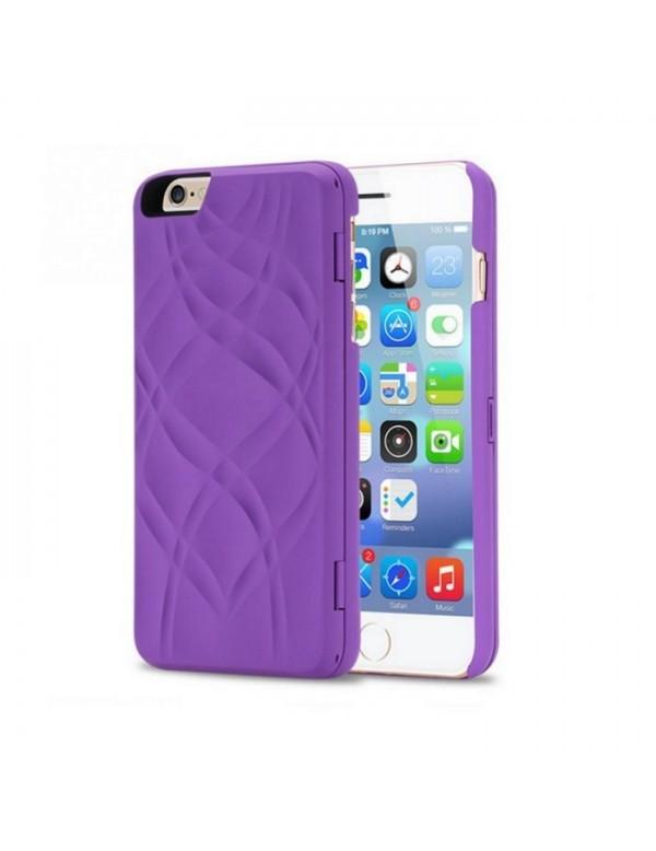 Coque iPhone 6/6S - Miroir intégré - Violet