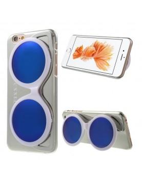 Coque iPhone 6/6S - Lunette de soleil blanche design miroir argent