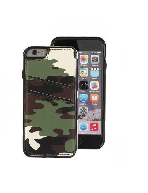 Coque iPhone 6/6S - Look armée verte effet cuir