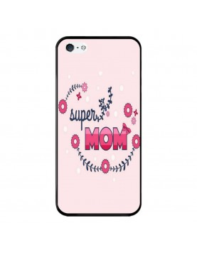 Coque-Rigide-iPhone-4-4S-Super-Mom-Rose-Super-Maman