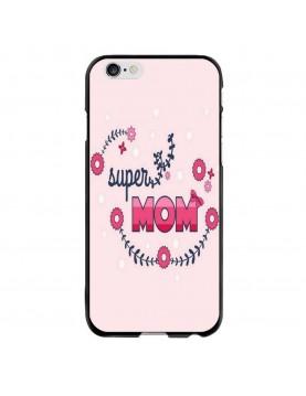 Coque-Rigide-iPhone-6Plus/6S Plus - Super-Mom-Rose-fleurs