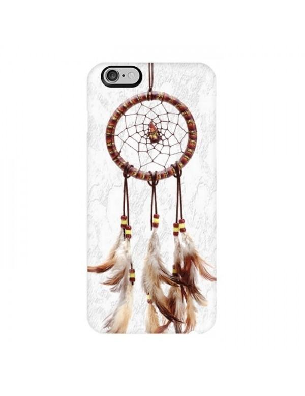 Coque rigide iPhone 6/6S - Attrape Rêve fond blanc