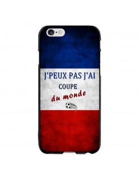 Coque iPhone 6/6S -  J'peux pas j'ai coupe du monde 2018 France