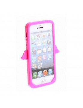 Coque silicone iPhone 4/4S - Angel's Case - Rose Pale