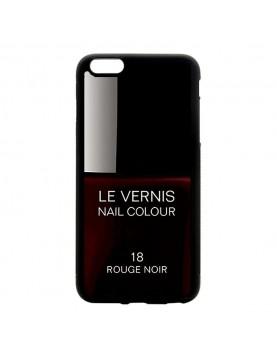Coque rigide iPhone 6/6S, Le Vernis-18-Rouge Noir